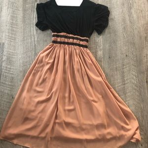 Dresses & Skirts - NWOT Black and Camel Midi Dress - Never Worn